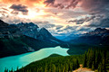 Peyto Lake Banff Sunset